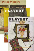 Magazines:Miscellaneous, Playboy Group (HMH Publishing, 1954-61) Condition: Average FN/VF.Here's a ready-made early Playboy collection to fill y... (Total:47 Items)