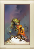 "Original Comic Art:Covers, Boris Vallejo - ""Conan the Magnificent"" Paperback Cover PaintingOriginal Art (Tor Books, 1984). In Robert Jordan's (pen nam..."