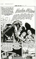 "Original Comic Art:Complete Story, Iger Studio Artist - Journey Into Fear #17, Complete 8-page Story, ""Make Mine Horror"" Original Art (Superior-Dynamic, 1954).... (Total: 8 Original Art)"