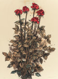 Prints, JOHN E. ALEXANDER (American, b. 1945). Roses, 2001. lithograph in colors on Kitakata paper. 30-1/4 x 22 inches (76.8 x 5...