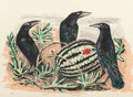Fine Art - Work on Paper:Print, OTIS DOZIER (American, 1904-1987). Crows and Watermelon,1987. Lithograph in colors. 20-3/4 x 28-1/2 inches (52.7 x 72.4...