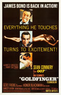 "Movie Posters:James Bond, Goldfinger (United Artists, 1964). One Sheet (27"" X 41.5"") GlossyStyle.. ..."