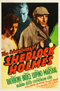 "Movie Posters:Mystery, The Adventures of Sherlock Holmes (20th Century Fox, 1939). OneSheet (27.25"" X 41"").. ..."