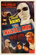 "Movie Posters:Horror, The Invisible Man (Realart, R-1951). One Sheet (27"" X 41.5"").. ..."