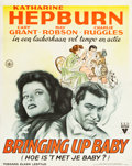 "Movie Posters:Comedy, Bringing Up Baby (RKO, 1938). Dutch Poster (27.5"" X 34.5"").. ..."