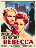 "Movie Posters:Hitchcock, Rebecca (Columbia, Late-1940s). First Post-War Release FrenchAffiche (23"" X 31.25"").. ..."