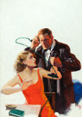 Paintings, WILLIAM REUSSWIG (American, 1902-1978). The Surprise Attack, Scotland Yard Detective Stories pulp cover, May 1931. Oil o... (Total: 2 Items)