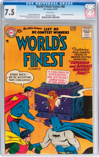 World's Finest Comics #88 (DC, 1957) CGC VF- 7.5 White pages