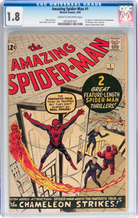The Amazing Spider-Man #1 (Marvel, 1963) CGC GD- 1.8 Cream to off-white pages