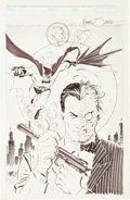 Original Comic Art:Sketches, Mike Zeck Two-Face Specialty Drawing Original Art (undated). . ...