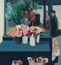 GREGORY KONDOS (American, b. 1923) Flower Shop at Gumps, 1978 Oil on canvas 64 x 60 inches (162.6