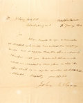 "Autographs:Statesmen, John McLean Autograph Letter Signed. One page with integral addressleaf, 8"" x 9.75"", Clarksburg [Maryland], January 18, 182..."