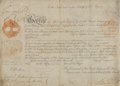 "Autographs:Non-American, [King George III]. King George IV of England Military AppointmentSigned ""George R"" as Prince Regent for his father, Kin..."