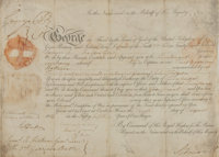 """[King George III]. King George IV of England Military Appointment Signed """"George R"""" as Prince Regent for h"""