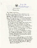 "Autographs:U.S. Presidents, Two Ronald Reagan Documents Signed Pertaining to Alzheimer'sDisease, the first being a two-page, 8.5"" x 11"" facsimile of th...(Total: 2 Item)"