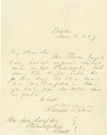 """Autographs:U.S. Presidents, Franklin Pierce Autograph Letter Signed, one page, 7.75"""" x 10"""",Boston, Massachusetts, June 4, 1857, to James Campbell, Phil..."""