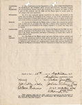 Autographs:Others, 1941 Josh Gibson Signed Puerto Rican League Contract....