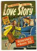 Golden Age (1938-1955):Romance, All Picture All True Love Story #1 (St. John, 1952) Condition:VG....