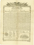 "General Historic Events:Expos, Centennial Facsimile of the Declaration of Independence, one page, 15"" x 19.5"", (Philadelphia: James McBride, 1874). The Dec... (Total: 1 Item)"