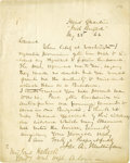 """Autographs:Military Figures, The """"Western"""" Irish Brigade's Colonel Mulligan Autograph Letter Signed, """"Jas. A. Mulligan, one page, 7.5"""" x 9.75"""", """"He... (Total: 1 Item)"""