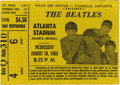 Music Memorabilia:Tickets, Beatles Atlanta Stadium Concert Ticket. Many of the venues theBeatles played at during the summer of '65 had sub-par sound ...(Total: 1 Item)