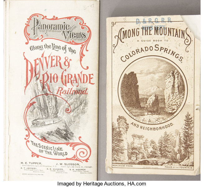 advertisingpaper items lot of two denver rio grande advertising pamphlets 1870s 1880s
