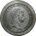 Austria, Austria: Ferdinand Obverse Die Plaque in white metal of Taler ND(1835-36),...