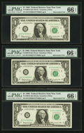 Error Notes:Mismatched Serial Numbers, Fr. 1900-B $1 1963 Federal Reserve Notes. Seventeen ConsecutiveExamples. PMG Graded.. ... (Total: 17 notes)