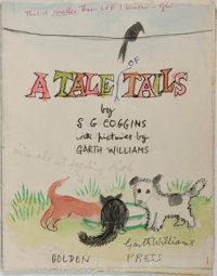 Garth Williams (1912-1996), illustrator. Rough Mockup for the Elizabeth MacPherson's A Tale of Tails