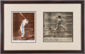 Baseball Collectibles:Photos, Mickey Mantle Signed Photographs Display (2)....