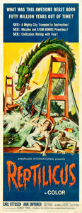 "Movie Posters:Science Fiction, Reptilicus (American International, 1962). Insert (14"" X 36"").. ..."