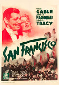 "Movie Posters:Romance, San Francisco (MGM, R-1953). French Grande (47"" X 63"").. ..."
