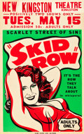 "Movie Posters:Bad Girl, Skid Row (Unknown, 1950). Window Card (14"" X 22"").. ..."