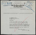 Football Collectibles:Others, 1923 Walter Camp Signed Letter. ...