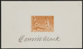 Baseball Collectibles:Others, 1937 Connie Mack Signed Index Card, With Signed Letter From Son(Roy Mack)....