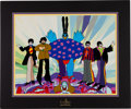 "Music Memorabilia:Memorabilia, Beatles Hand-Painted Yellow Submarine Limited Edition Animation Cel ""Love, Love, Love"" Signed by George Martin, #9..."