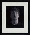 "Music Memorabilia:Photos, John Lennon Large Limited Edition Dye Transfer Photographic Printby Astrid Kirchherr, the ""Attic Portrait"" Taken in 1962, Sig..."