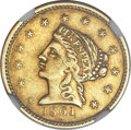 Territorial Gold, 1861 $2 1/2 Clark, Gruber & Co. Quarter Eagle -- Improperly Cleaned -- NGC Details. AU. K-5a, R.4....