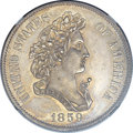 1859 P50C Half Dollar, Judd-239, Pollock-295, R.4 -- Improperly Cleaned -- NGC Details. Proof....(PCGS# 11972)