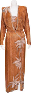 Movie/TV Memorabilia:Costumes, Randy McLaughlin of Jeran Collection - Jaclyn Smith's Gold Gown....