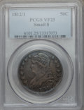 Bust Half Dollars, 1812/1 50C Small 8 VF25 PCGS. PCGS Population (7/133). NGC Census:(2/94). Numismedia Wsl. Price for problem free NGC/PCGS...