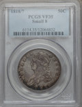 Bust Half Dollars: , 1818/7 50C Small 8 VF35 PCGS. PCGS Population (22/117). NGC Census:(11/219). Numismedia Wsl. Price for problem free NGC/P...