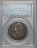 Bust Half Dollars, 1834 50C Large Date, Small Letters XF40 PCGS. PCGS Population(59/438). NGC Census: (0/0)....