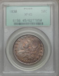 Bust Half Dollars: , 1830 50C Small 0 XF45 PCGS. PCGS Population (222/1074). NGC Census:(214/1327). Mintage: 4,764,800. Numismedia Wsl. Price f...