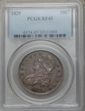 Bust Half Dollars: , 1829 50C Small Letters XF45 PCGS. PCGS Population (246/889). NGCCensus: (156/853). Mintage: 3,712,156. Numismedia Wsl. Pri...