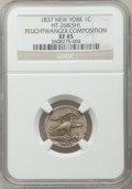 Medals And Tokens, 1837 1C New York, Feuchtwanger Composition Cent XF45 NGC. HT-268(5H). PCGS Population (37/342)....