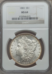 1883 $1 MS64 NCS. NGC Census: (9121/4831). PCGS Population (8409/4858). Mintage: 12,291,039. Numismedia Wsl. Price for p...