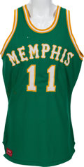 Basketball Collectibles:Uniforms, 1972-74 Wil Jones Game Worn Memphis Tams Jersey and Shorts....