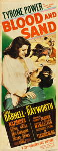 "Movie Posters:Drama, Blood and Sand (20th Century Fox, 1941). Insert (14"" X 36"").. ..."