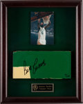 Basketball Collectibles:Others, Circa 1999 Bill Russell Signed Boston Garden Parquet Floor Piece....